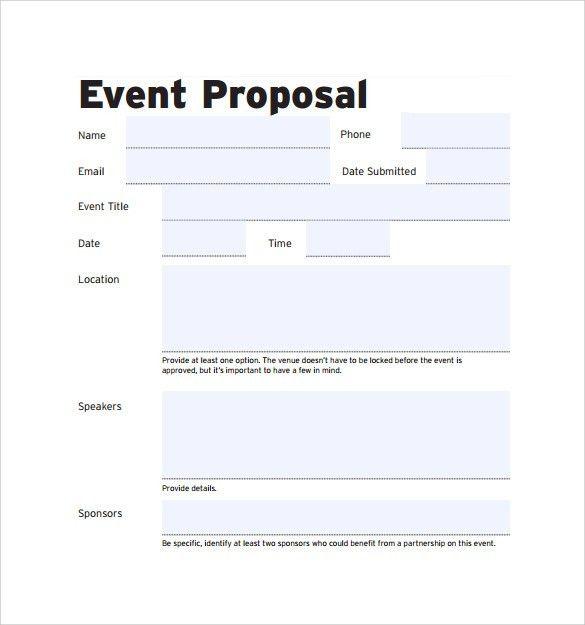 Proposal Letter Outline Sample Proposal Letter 13 Free Documents - event proposal letter