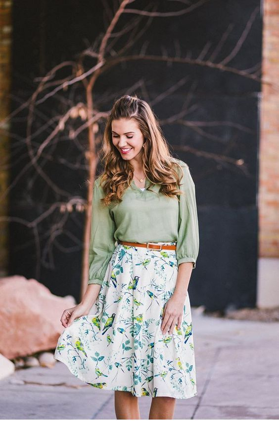 Cute light green boho chic style