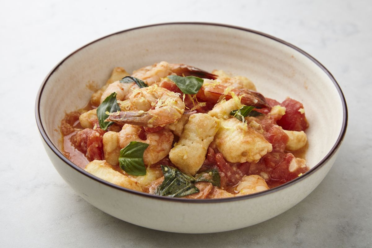 Class of the Day: Gnocchi alla Sorrentina with Shrimp and Tomato Sauce