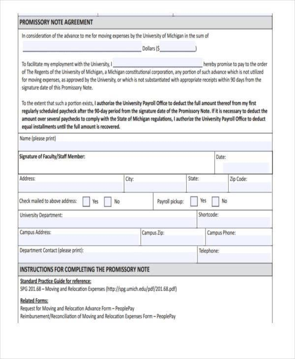 Sample Of A Promissory Note Agreement Promissory Note Template - convertible note agreement template