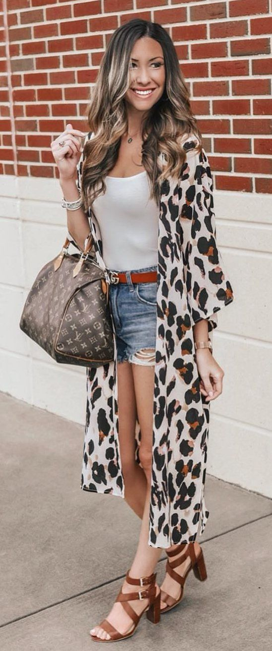 black and white leopard print dress #spring #outfits