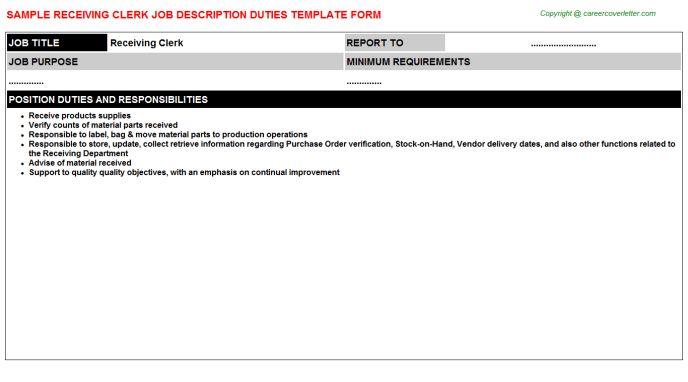 Store Clerk Job Description Sales Clerk Job Description, Clerk - stock clerk job description