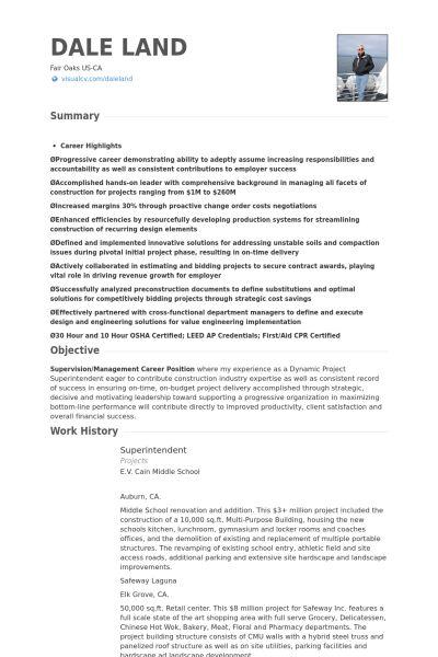 Superintendent Resume Resume Sample 23 Construction