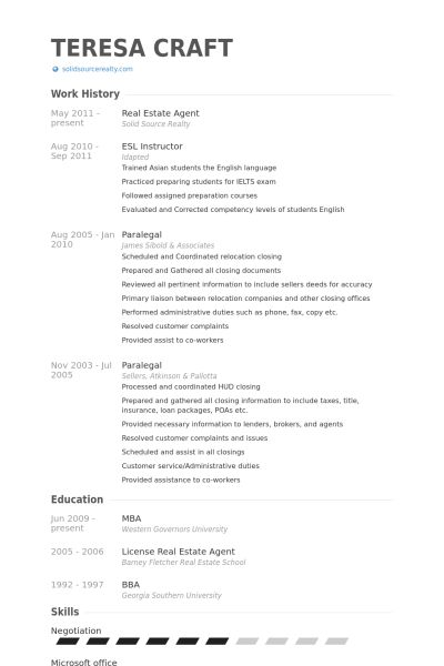 Real Estate Agent Resume Example Real Estate Agent Resume Example - real estate resume examples