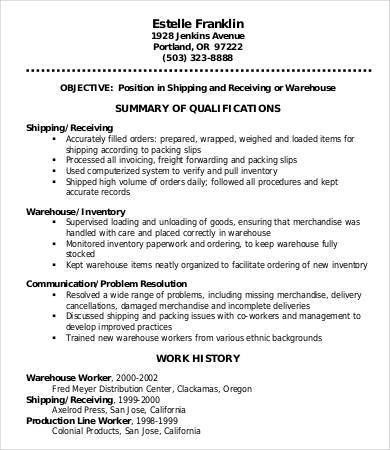 resume for warehouse packer 9 professional warehouse resume