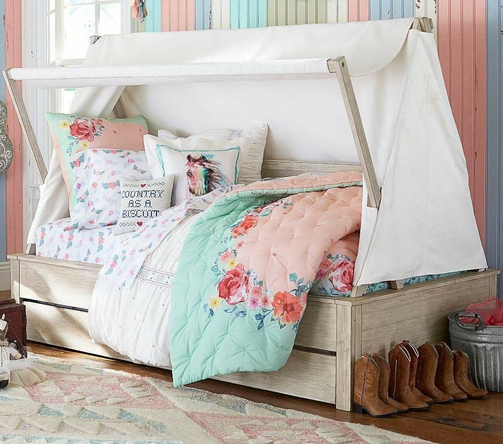 Rustic Roses Pottery Barn Kids Kid beds, Bunk beds