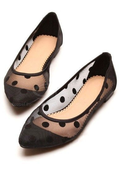 Very cute black polka dot flats