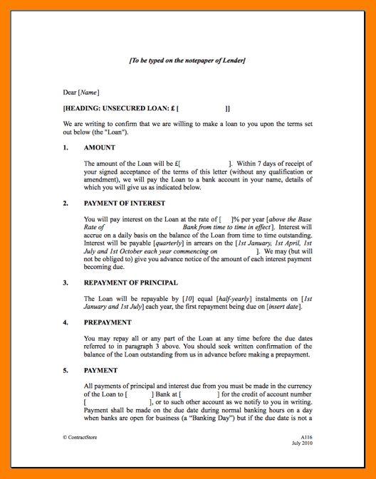 5+ Loan Agreement Between Individuals | Service Letters  Loan Agreements Between Individuals