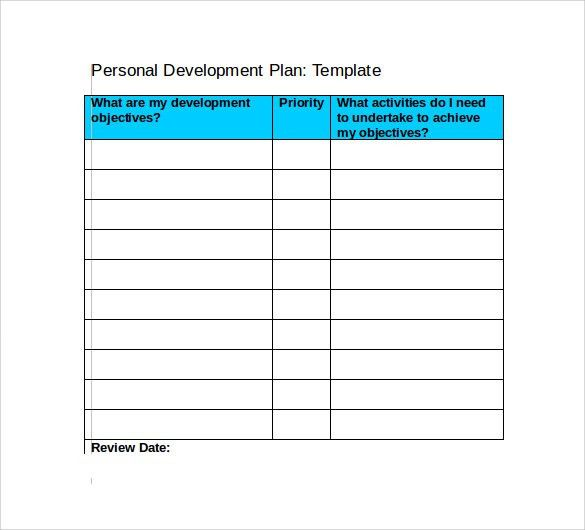 ... Personal Development Plan Template Word Sample Personal   Example Of A Personal  Development Plan Sample ...  Personal Development Plan Template Word