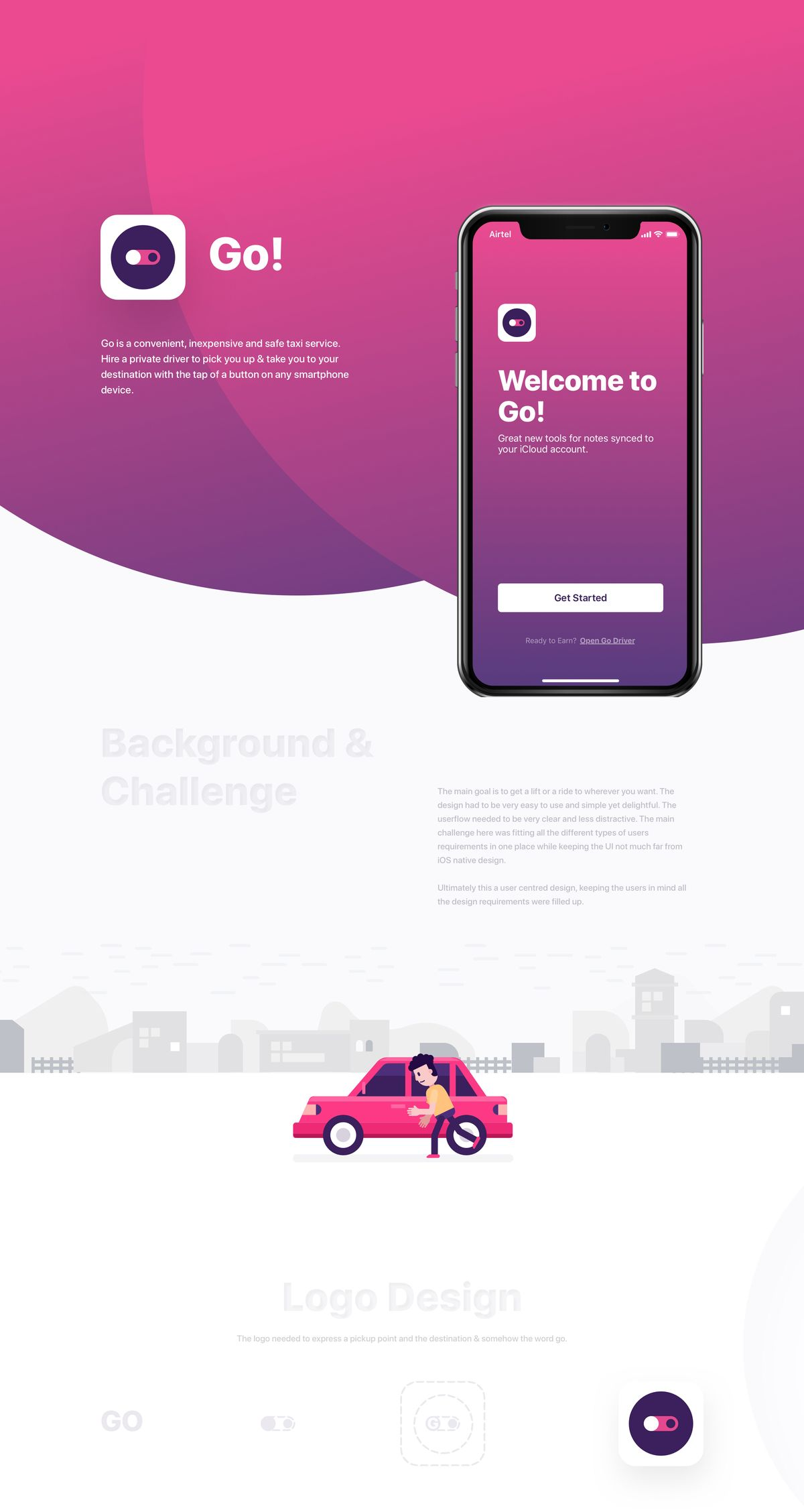 Go! Ride App UI - Full Case Study on Behance