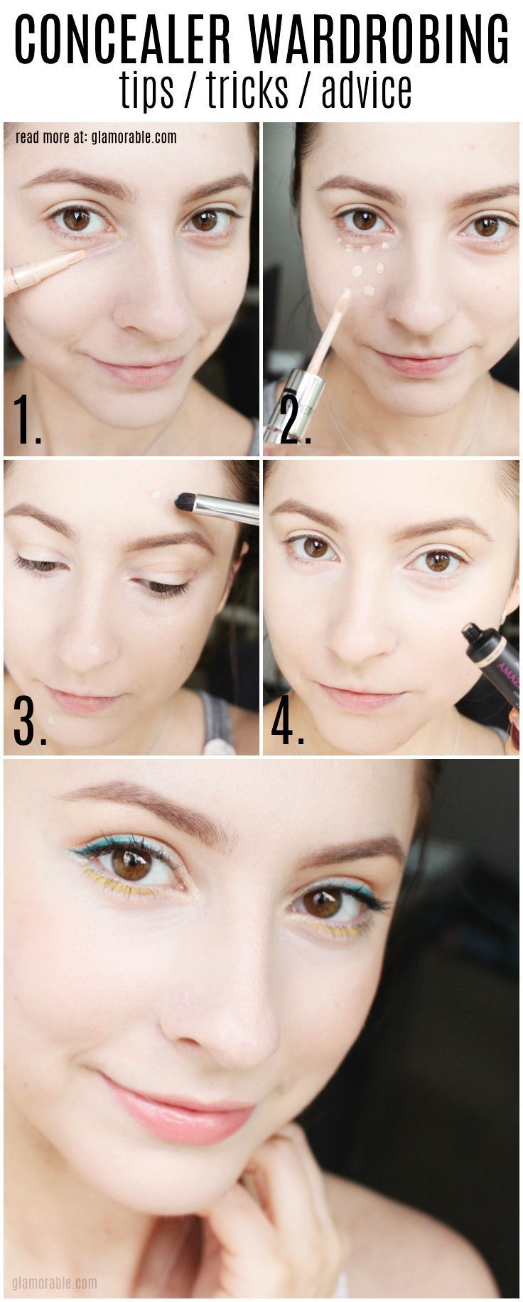 Concealer wardrobing is one of the hottest beauty trends, loved by Hollywood celebrities, fashionistas, and runway models. Click through to find out what it is and how to do it right! (concealer tutorial, how to conceal dark circles, makeup tutorial) Read