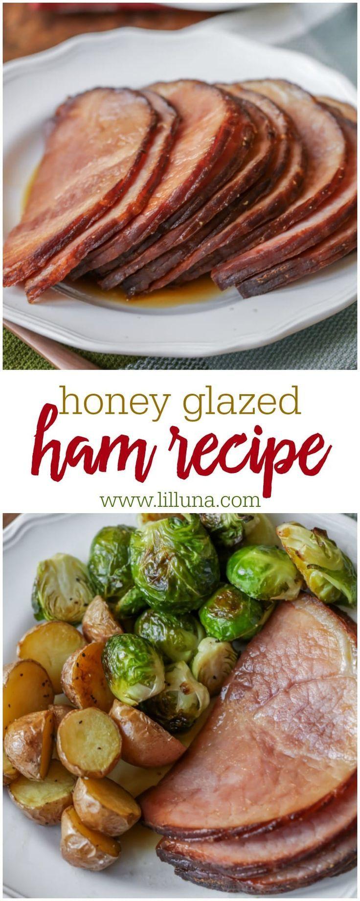 Honey Glazed Ham {Made in the Crock Pot!} | Lil' Luna