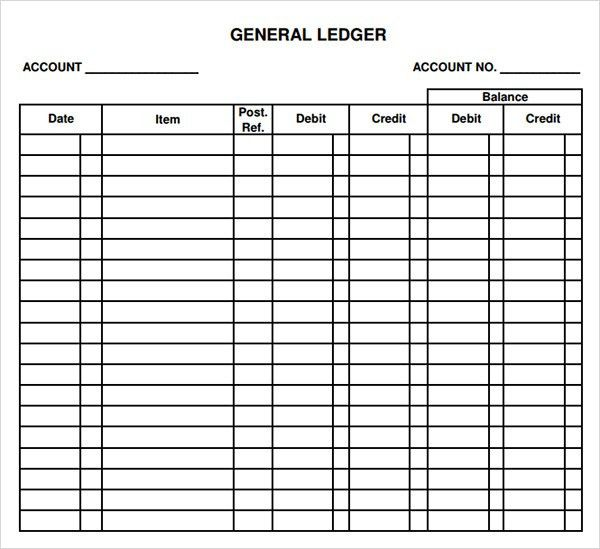 Account Ledger Template General Ledger Sheet Template Double - account ledger template