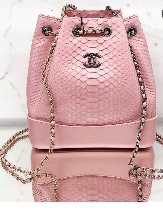 Pink bag Chanel style