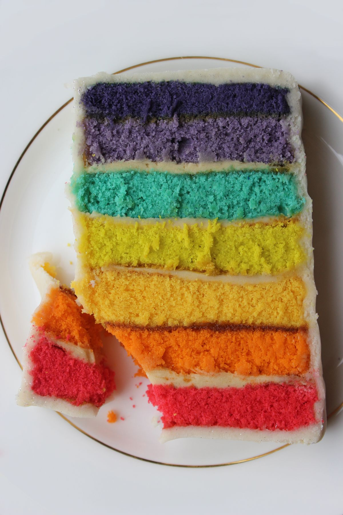 Biscuiteers Rainbow Battenberg cake recipe