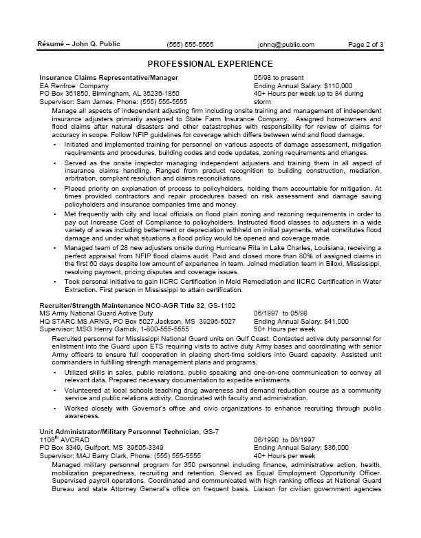 Federal Job Cover Letter Sample Federal Government Cover Letter - federal job resume samples