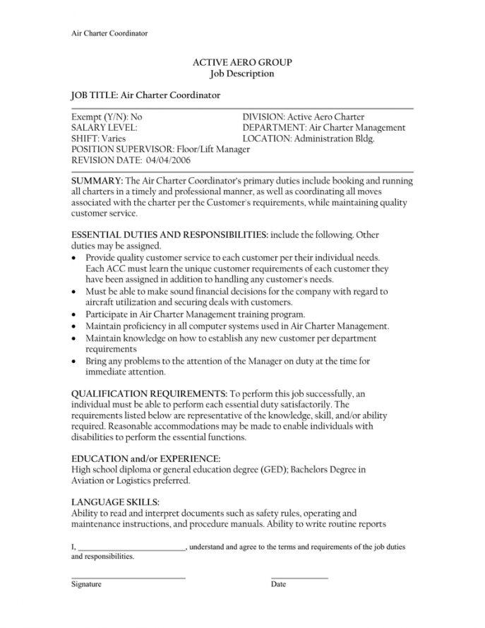 Flooring Job Description Lcha Job Description Laborer A - logistics coordinator job description