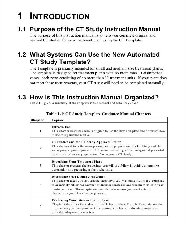 Operating Manual Template Sample Operations Manual 8 Documents In - operation manual