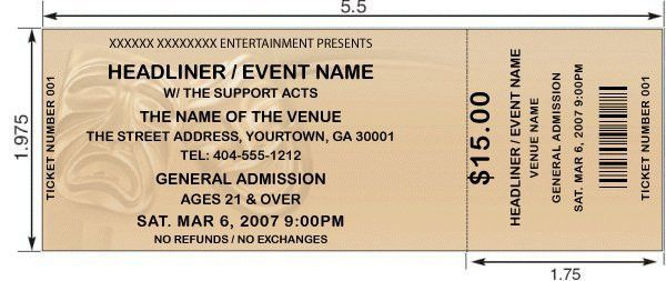 Theater Tickets. Design And Print Your Own Tickets With Our .  Dinner Ticket Template