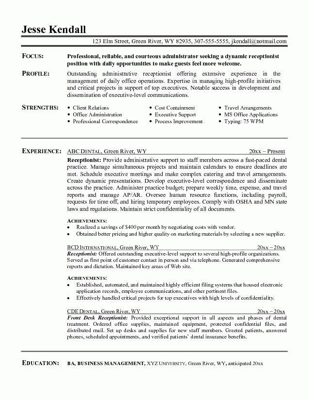 Dental Secretary Jobs How Do I Become A Dental Office - hotel front desk resume
