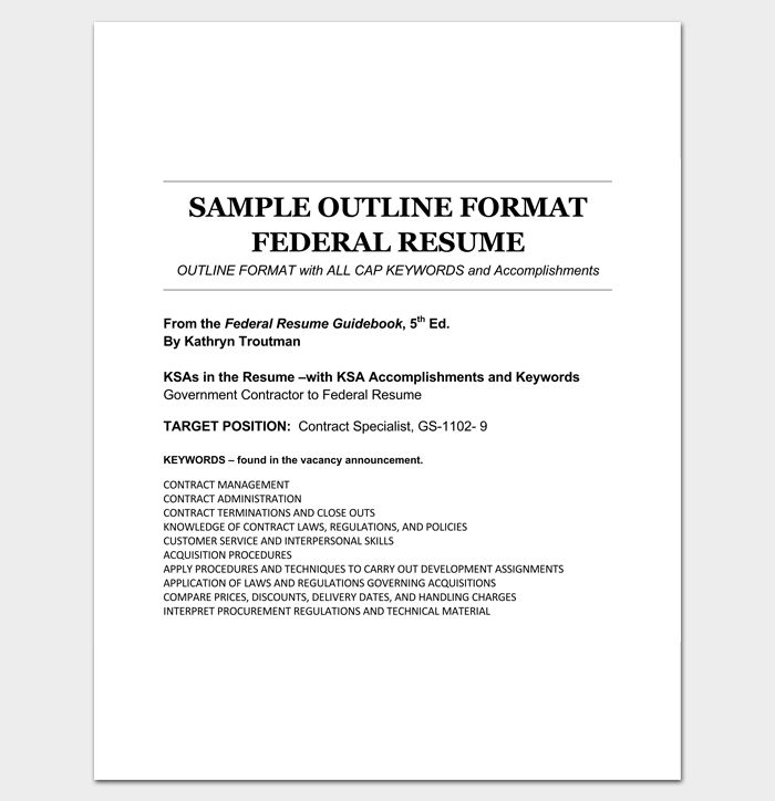 Government Contractor Resume Professional Government Contracting - federal resume example