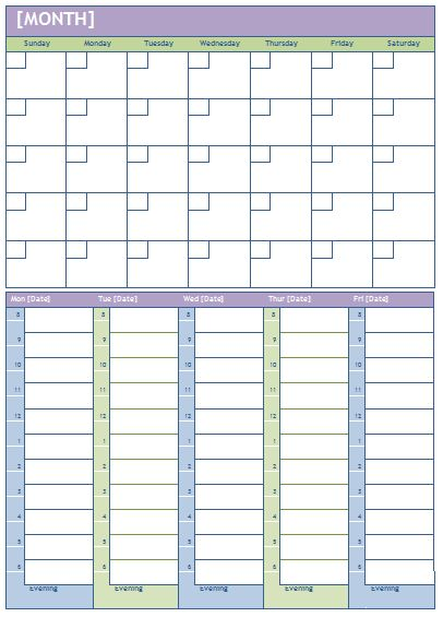 Microsoft Word Weekly Calendar Weekly Calendar Template Microsoft - daily task calendar template