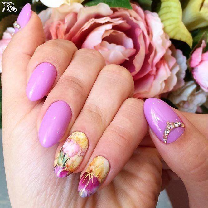Gel Purple Nail Designs for Summer – Reny styles