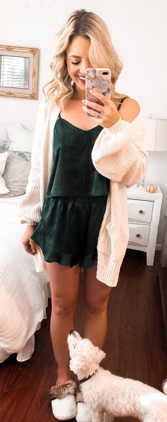 green mini dress
