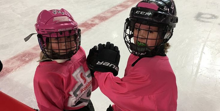Scotia Hockey Club high fives for all.