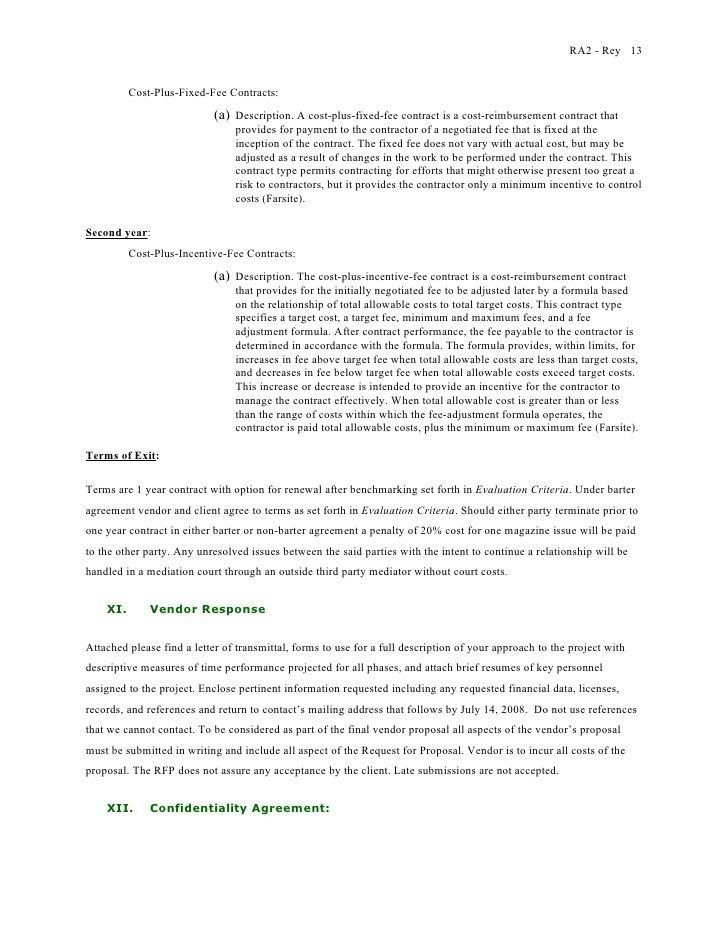 Barter Contract Template Sample Simple Barter Agreement Free - proposal contract template