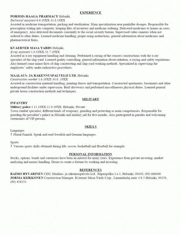 Resume Builder For Military Inspiring Idea Military Resume - military to civilian resume examples