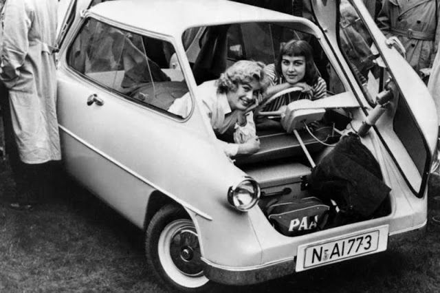 Vintage Photos of Two-Faced German Microcar Zündapp Janus From the Late 1950s