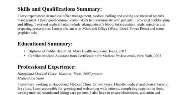 Objective For A Medical Assistant Resume Medical Assistant Resume - medical professional resume