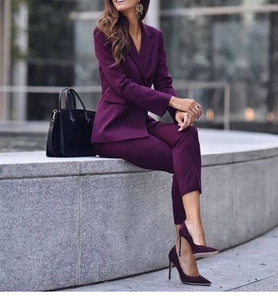 Cool purple suit for office