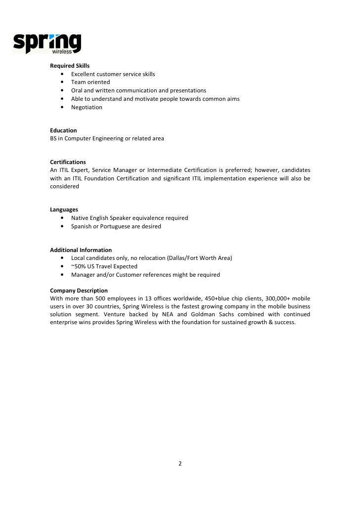 Job Description For Customer Service Manager Customer Service Job - customer service manager job description