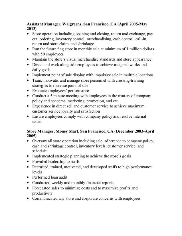 Walgreens Pharmacist Sample Resume Pharmacist Resume Sample Writing