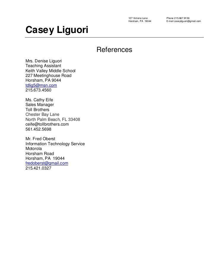 References Resume Format Reference Resume Sample Resume Sample