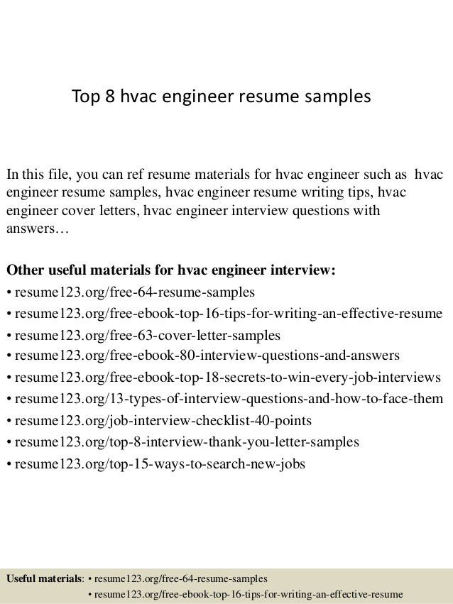 cover letter for hvac engineer