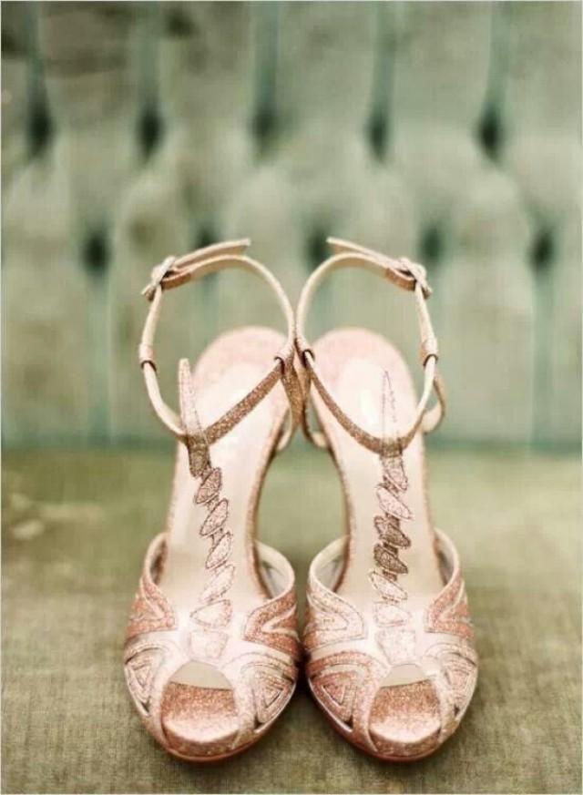 stunning glittery rose bridal sandals ideas