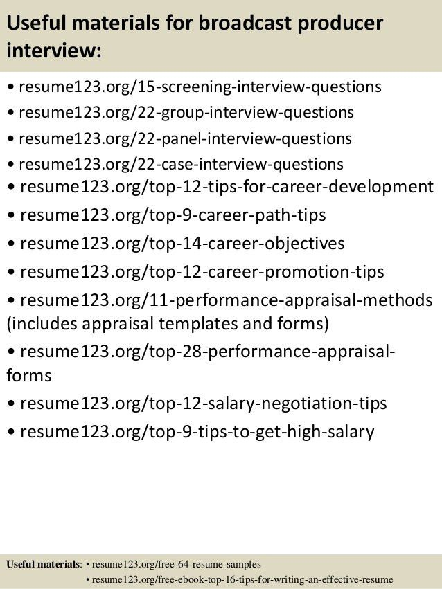 broadcast producer sample resume executive producer sample resume broadcast producer resume - Broadcast Producer Resume