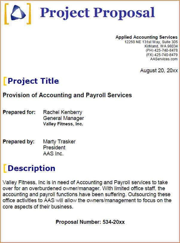 Business Project Proposal Template Formal Business Project - project proposal example