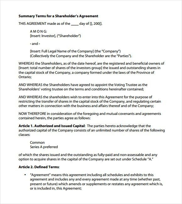 Investor Agreement Template Free 9 Investment Contract Templates - marriage contract template