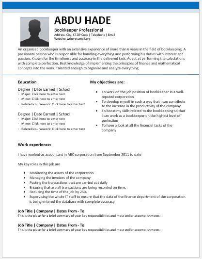School Bookkeeper Sample Resume Unforgettable Bookkeeper Resume - School Bookkeeper Sample Resume