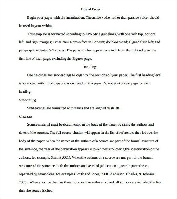 examples of apa style essays