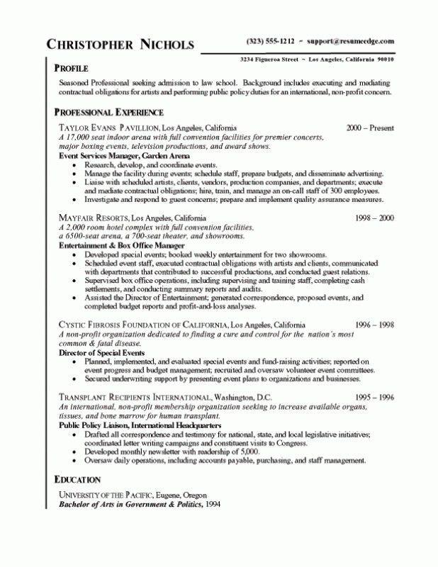 Example Of Graduate School Resume Sample Resume For Graduate - examples of graduate school resumes