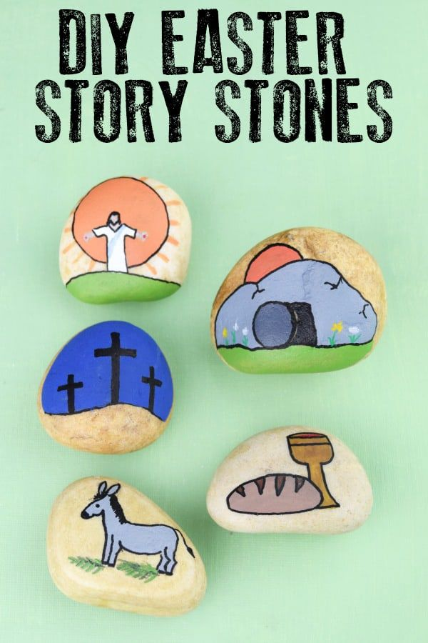 DIY Easter Story Stones for Kids to Make