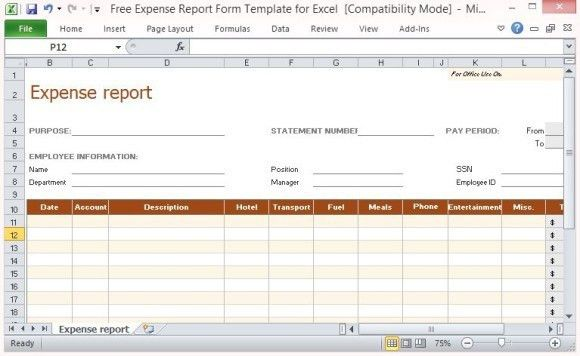 Expense Report Sheet Free Excel Expense Report Template, 8 - sample expense sheet