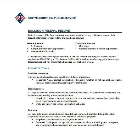 federal resume builder usajobs