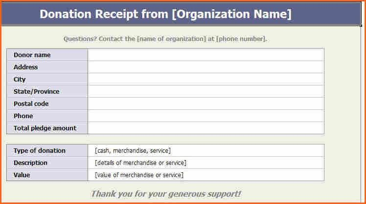 Donation Template Donation Sheet Template 4 Free Pdf Documents - donation receipt letter