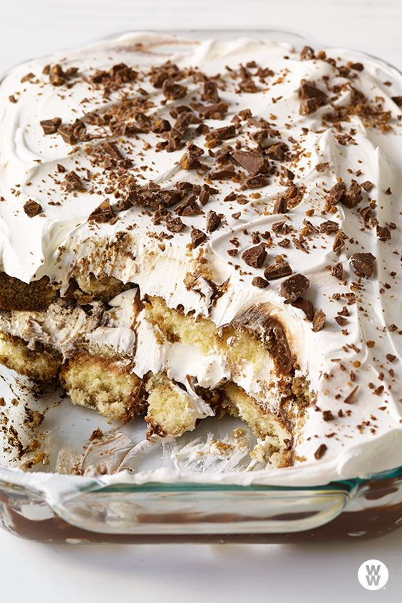 Mocha trifle: This decadent dessert is a breeze to make. Trifles are a classic British dessert, but since they require minimal cooking, they are an ideal option for entertaining since they are easy—this one takes just 15 minutes to prepare—and you can make it a day ahead.
